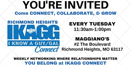 Richmond Heights IKAGG CONNECT Weekly Meeting tickets