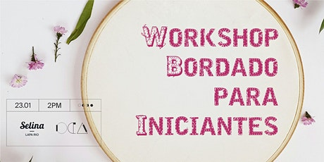 Workshop Bordado Para Iniciantes ingressos