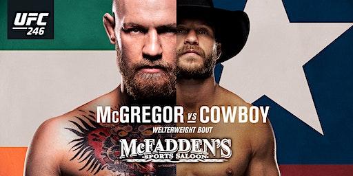 UFC 246 McGregor vs. Cowboy at McFadden's