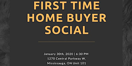 FIRST TIME HOME BUYER SOCIAL tickets