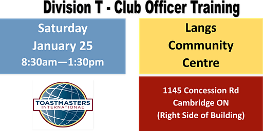 Division T - Club Officer Training