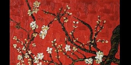 Van Gogh Almond Blossoms...in Red