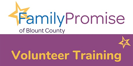 Family Promise of Blount County VOLUNTEER TRAINING tickets