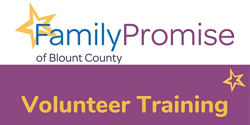 Family Promise of Blount County VOLUNTEER TRAINING
