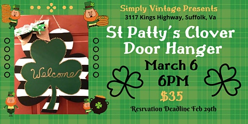 St. Patty's Clover Door Hanger Make & Take
