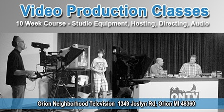 10 Week Video Production Class (Starts March 16th to May 18th 2020) tickets