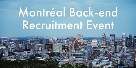 HiredEvents - Montreal Back-end Developer Recruitment (Feb 12) tickets