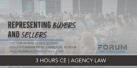 CE - Agency Law: Representing Buyers and Sellers   tickets