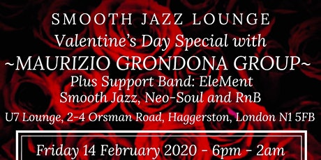 Smooth Jazz Lounge Valentine's Day Special with Maurizio Grondona Group tickets
