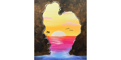 """Date Night, Happy Valentines Day """"Sunset Heart"""""""