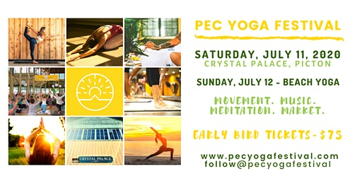 PEC YOGA FESTIVAL - PRINCE EDWARD COUNTY - JULY 11, 2020