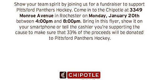 Pittsford Panthers Hockey Chipolte Fundraiser