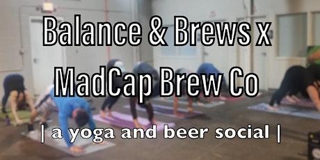 Balance and Brews x MadCap Brew Co. tickets