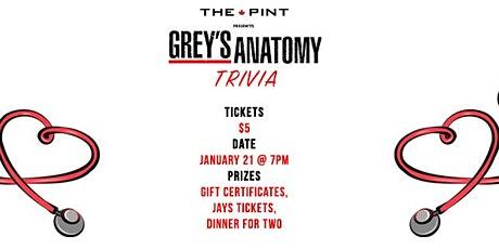 Grey's Anatomy Trivia Night tickets