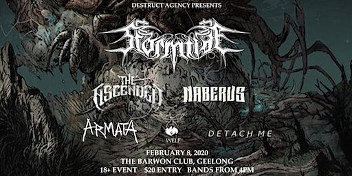 Destruct Agency Presents - Metal in Geelong Feb 8th