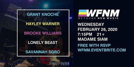 HAYLEY WARNER / LONELY BEAST / BROOKE WILLIAMS / GRANT KNOCHE / SAVANNAH SGRO tickets