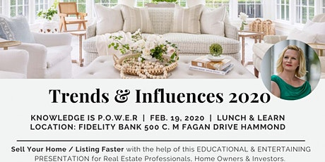 Trends & Influences 2020 | Sell Your Home / Listing Faster tickets