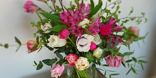 Make Luxury Bouquet of Seasonal Flowers with Afternoon Tea - Morning