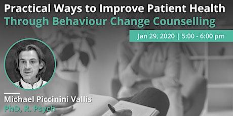 Practical Ways to Improve Patient Health Through Behaviour Change tickets