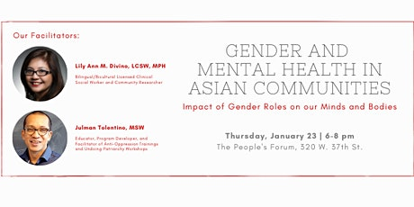 Gender and Mental Health in Asian Communities tickets