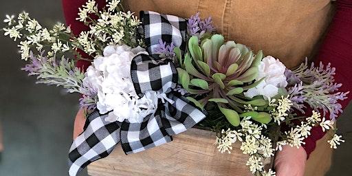 Silk Flower Table Arrangement Class