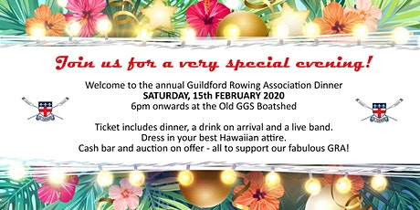 Annual Guildford Rowing Association Dinner - 2020 tickets