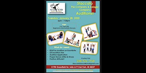 Staccato Dance Works: Pre-Company & Adagio Company Auditions