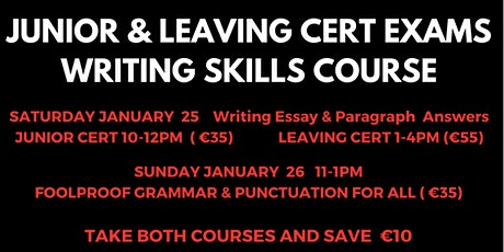 Leaving Cert Exams Writing Skills Course tickets