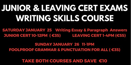 Leaving Cert Exams Writing Skills Course