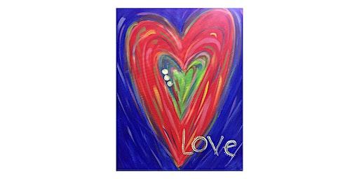 Love Heart |Adult Paint 'n Sip | $25=$30