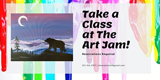 Bear Mountain Moonrise Canvas Class