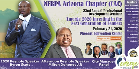 National Forum for Black Public Administrators Central Arizona Chapter Professional Development Seminar:  Emerge 2020 Investing in the Next Generation of Leaders  tickets
