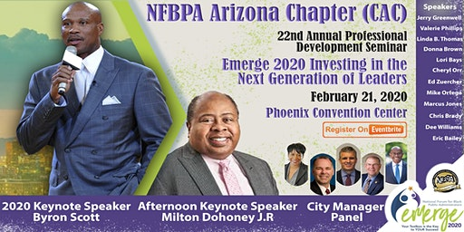 National Forum for Black Public Administrators Central Arizona Chapter Professional Development Seminar:  Emerge 2020 Investing in the Next Generation of Leaders
