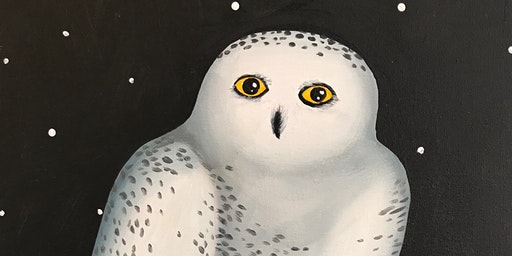 Snowy Owl (Adult Version) Paint Party at Brush & C