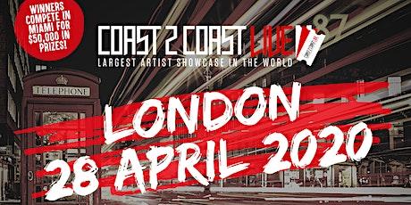 Coast 2 Coast LIVE Artist Showcase London, UK - Win $50K In Prizes tickets