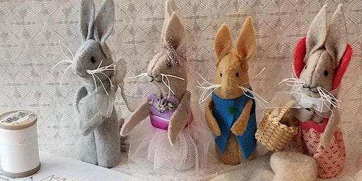 Toymaking: Little Scrap Rabbits workshop at Ragfinery