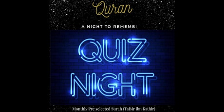 Quran Quiz Night Sheffield - Sisters tickets