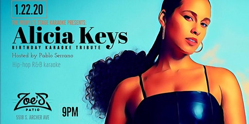 R&B/Hip-hop Karaoke: Alicia Keys Bday Tribute at Zoe's!
