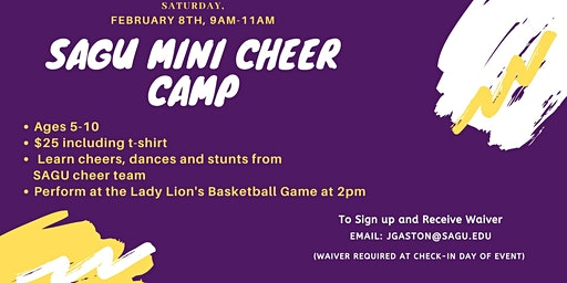 SAGU Mini Cheer Camp