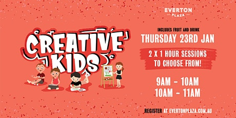 Creative Kids January School Holidays Activity tickets