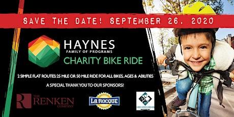 Haynes Family of Programs Charity Bike Ride tickets