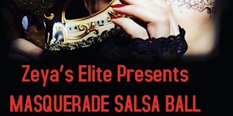 Masquerade Salsa dinner, dance and comedy tickets