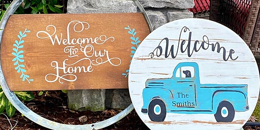Sip and Paint Wood Sign Party