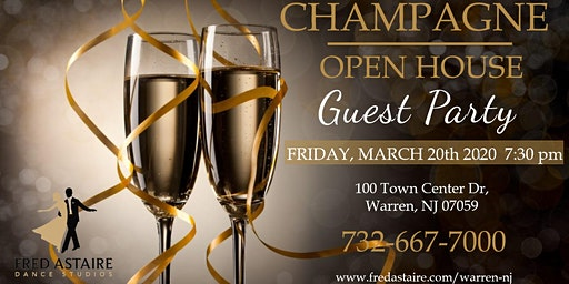 CHAMPAGNE OPEN HOUSE GUEST PARTY - FREE OF CHARGE!