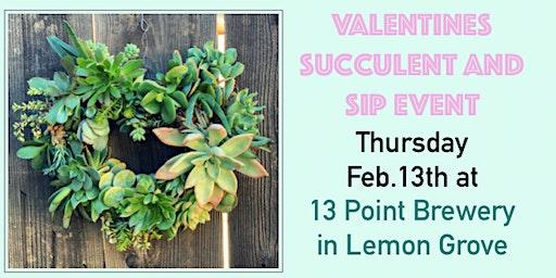 Living Heart Wreath Making- Succulent & Sip