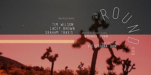 RESCHEDULED The Round (176) with Tim Wilson, Lacey Brown, Graham Travis + spoken word poet Amanda Chan & live painter Victoriana Dan