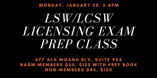 LSW/LCSW Social Work Licensing Exam Prep Class
