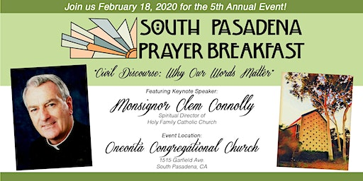 5th Annual South Pasadena Prayer Breakfast