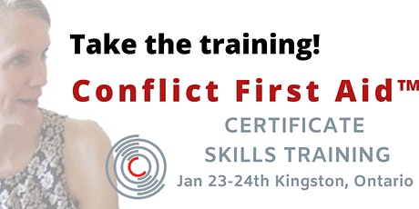 KINGSTON! Get Certified in CONFLICT FIRST AID™ - Solid, SAFE Support tickets