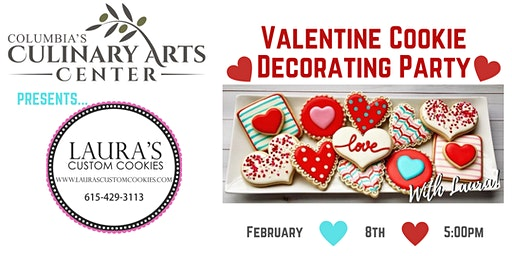 Valentine Cookie Decorating Party  with Chef Laura!